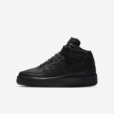Buty juniorskie Nike Air Force 1 Mid (GS) All Black 314195 004